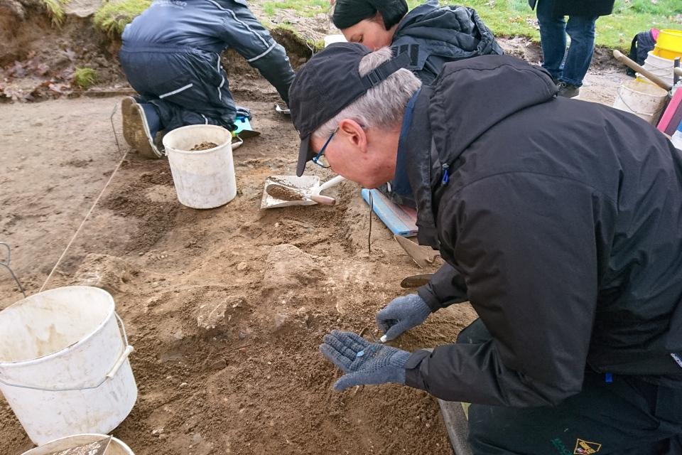 Открытая археология в Скандерборге, Munkekroen - находки. Фото 17 окт. 2019