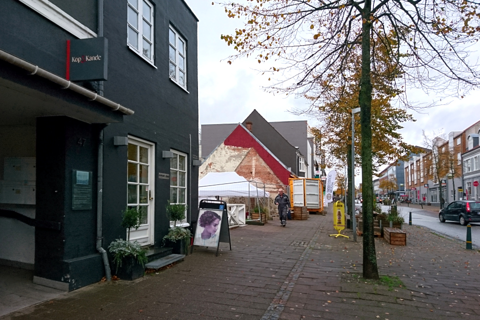 Улица Adelgade, где раньше находилась гостиница Munkekroen