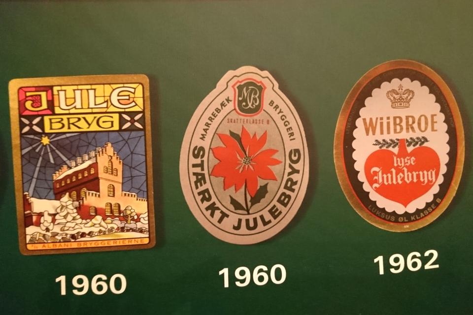 Логотип рождественского пива 1960 года с изображением пуансетии, Дания