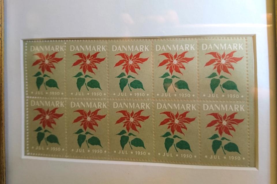 Рождественские почтово-благотворительные марки 1950 года, Дания