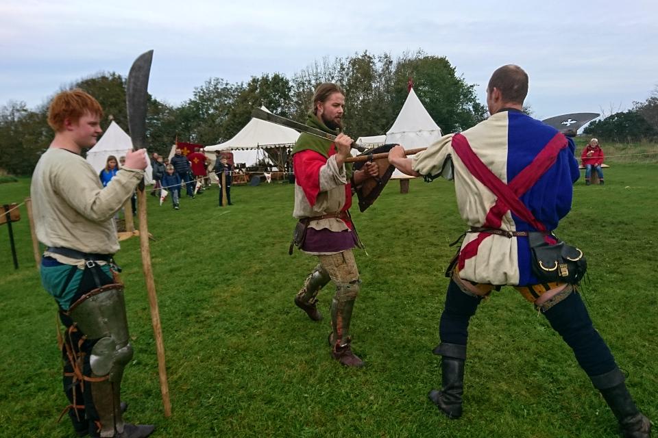 Рыцари. Средневековый фестиваль в монастыре Витскол 12окт. 2019, Дания