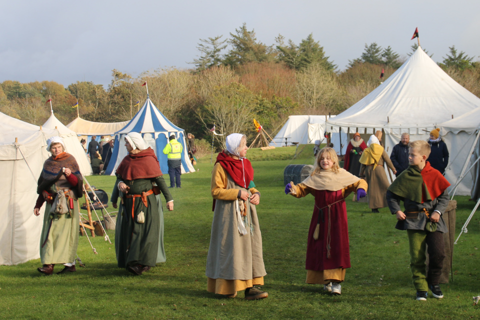 Средневековый фестиваль в монастыре Витскол 13окт. 2019, Дания