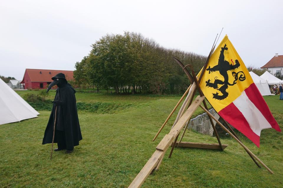 Чумной доктор. Средневековый фестиваль в монастыре Витскол 13ок.2019, Дания