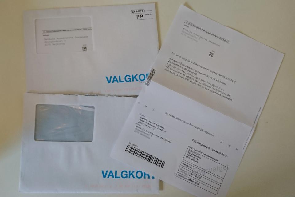 Карточки для голосования, полученные по почте. Фото май 2019