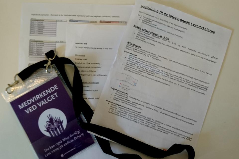 Инструкции и карточка для добровольцев, принимавших участие в выборах