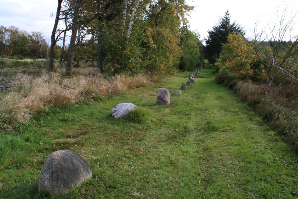 Каменный ряд времен бронзового век, археологический комплекс Мурхой