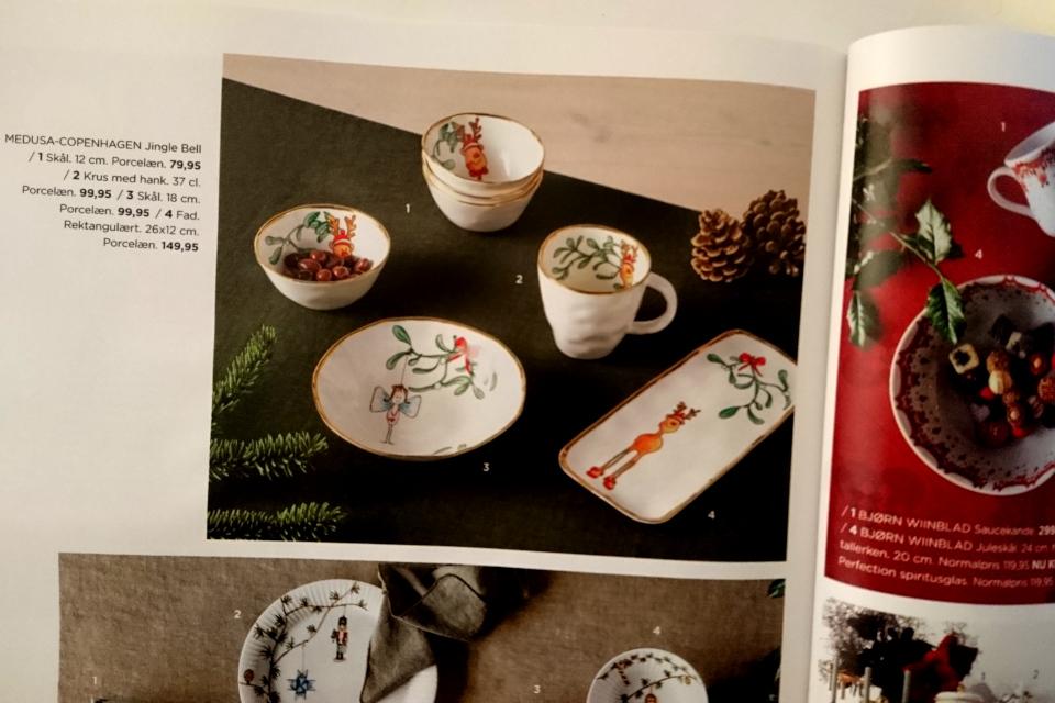 Реклама рождественского сервиза с веточками омелы в журнале. Фото 3 нояб. 2018