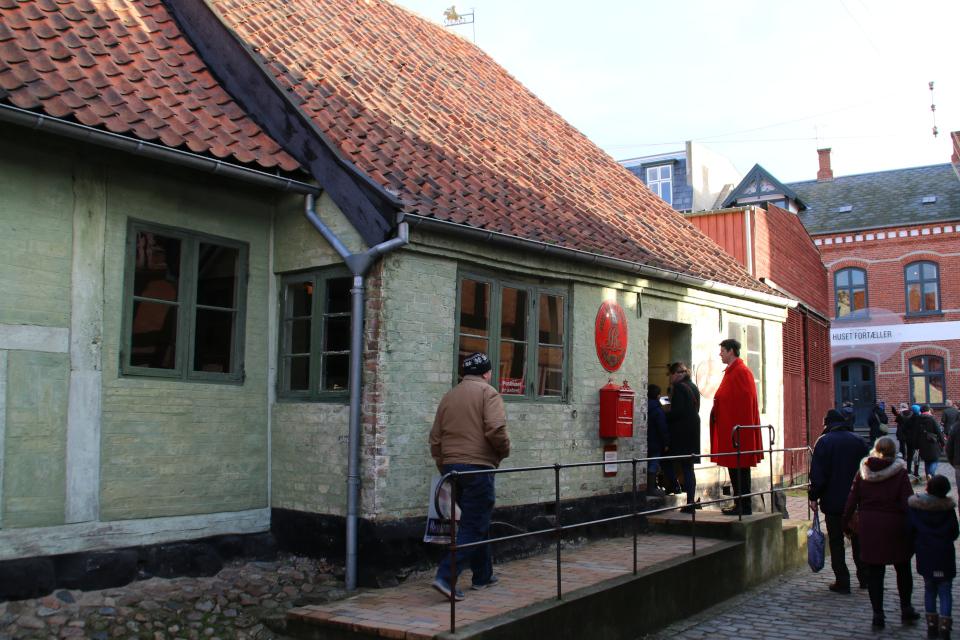 Почтовое отделение начала 1900 годов в музее Старый Город (Den Gamle By