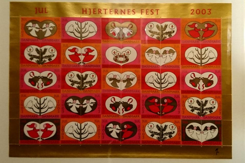 Праздник сердечек (дат. Hjerternes fest) на рождественских марках 2003 года