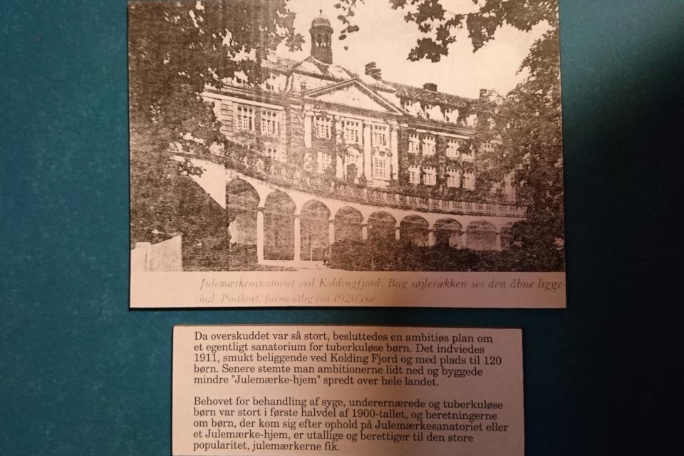Открытка с изображением первого санатория для детей Julemærkehjem