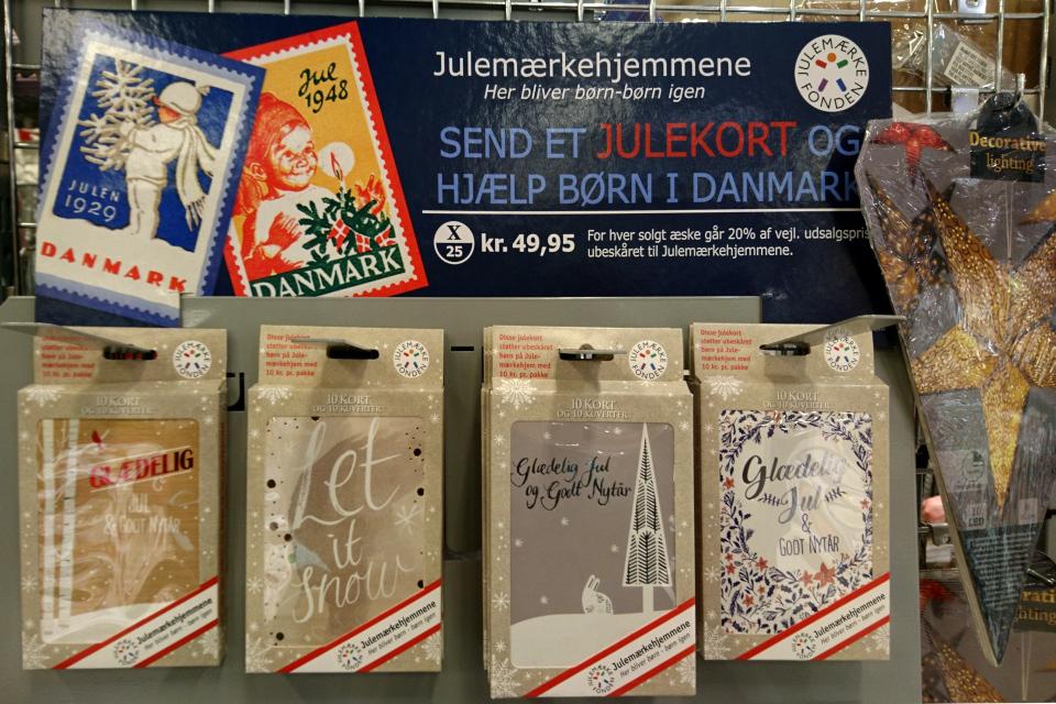 рождественские открытки, Дания