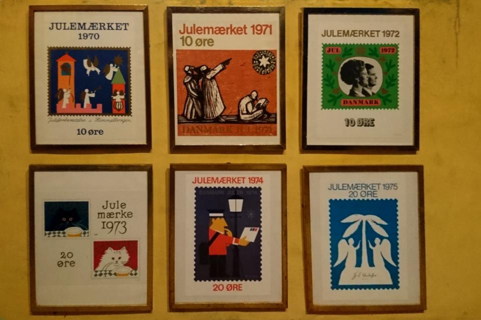 Рождественские почтово-благотворительные марки в Дании 1970- 1975 годов
