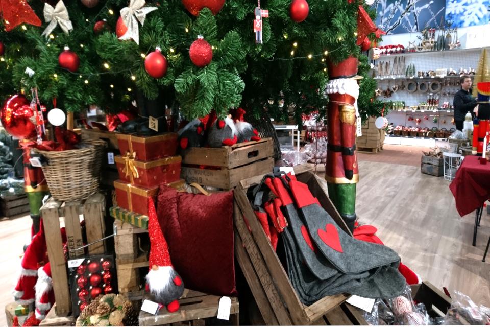 Рождественский базар в Plantorama, рождественская елка. 22 окт. 2019, Дания