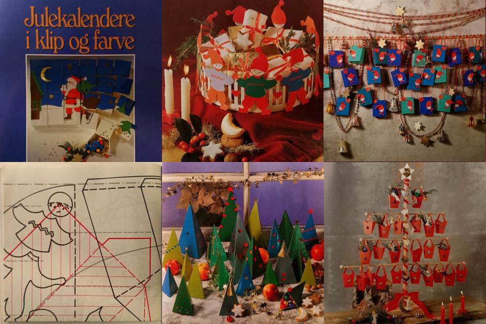 Книжка 1992 года с примерами самодельных рождественских календарей