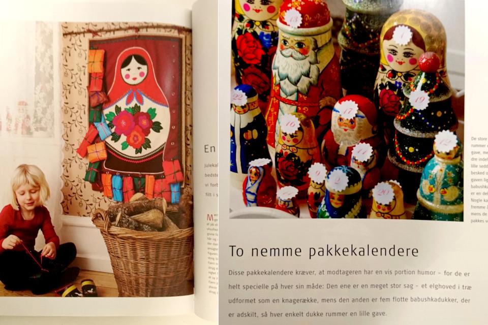 Рождественский календарь с матрешками (дат. babushka)