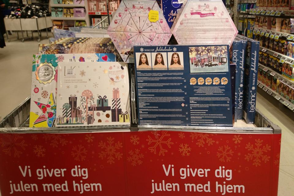 Рождественские календари с косметическими продуктами, Дания