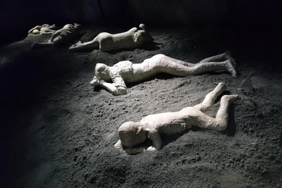 Гипсовые слепки жертв Помпеи. Фото 28 нояб. 2019, выставка в музее Мосгорд