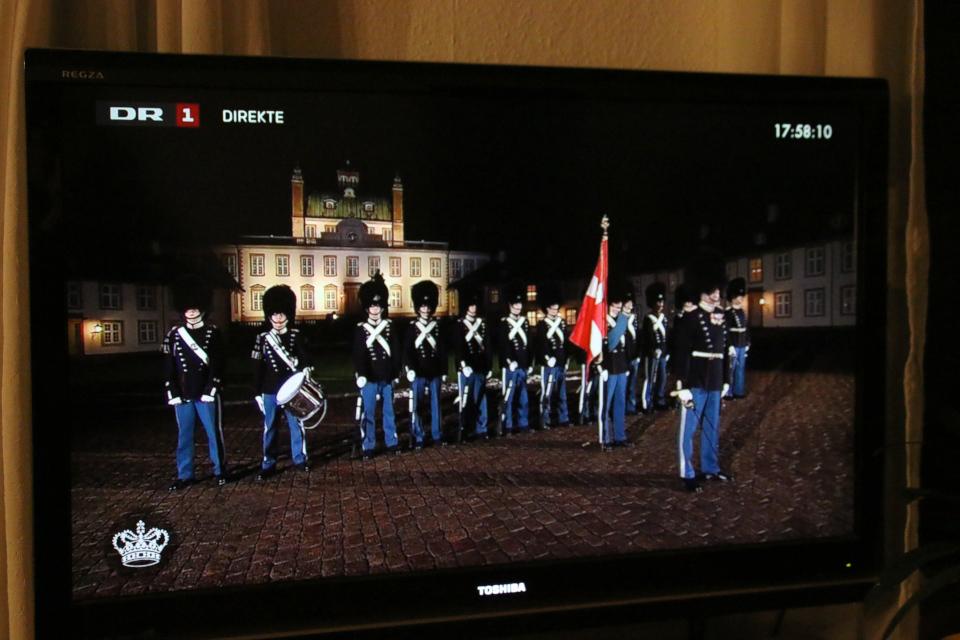 Королевские гвардейцы перед дворцом Фреденсборг