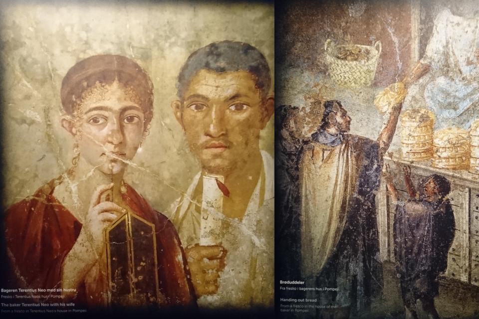 фреска с портретом пекаря Теренция Неона и его жены из дома Теренция Неона