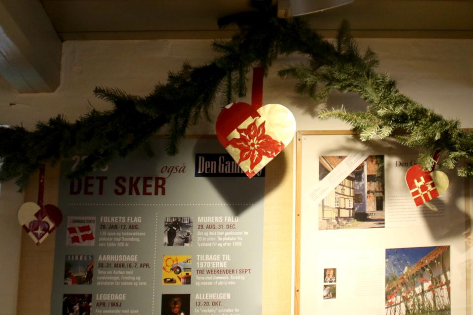 Популярное рождественское растение - пуансеттия. Рождественские сердечки, Дания