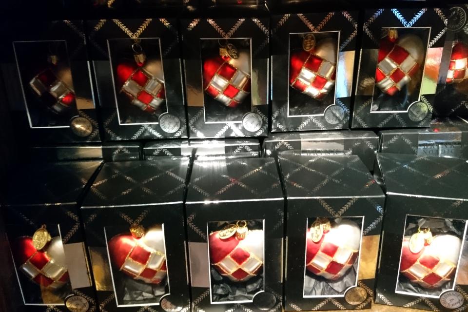 """Украшение для рождественской елки - """"шарики"""" по форме сердечек, Дания"""