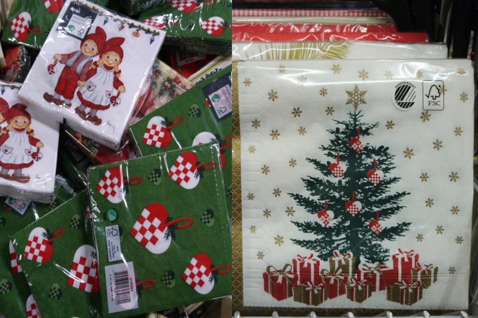 Салфетки с рождественскими мотивами - Рождественские сердечки, Дания