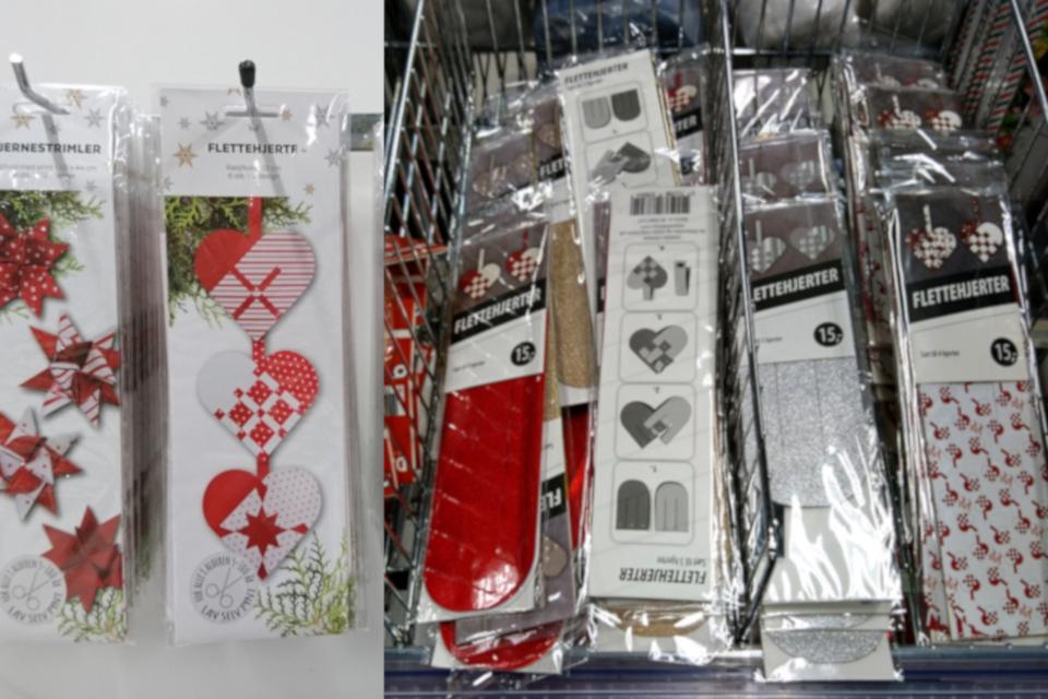 Готовые шаблоны из бумаги с инструкциями для плетения сердечек, Дания