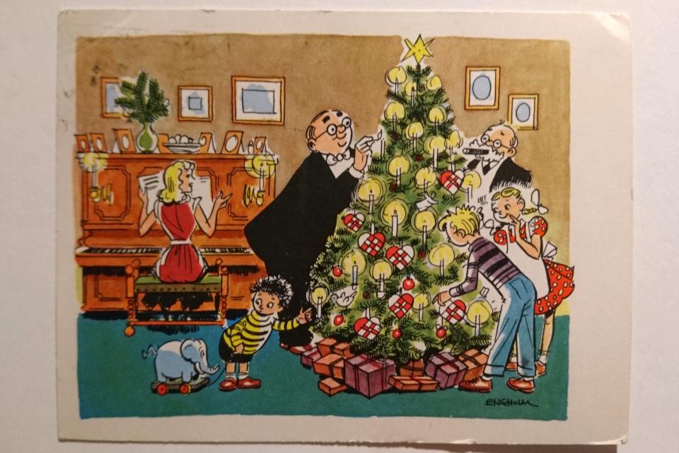 Юмористическая рождественская открытка датского художника Кай Энгхольм