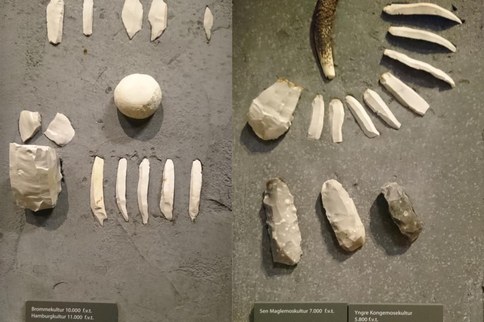 Каменные орудия труда культуры Бромме, Гамбургской, Маглемозе, Конгемозе