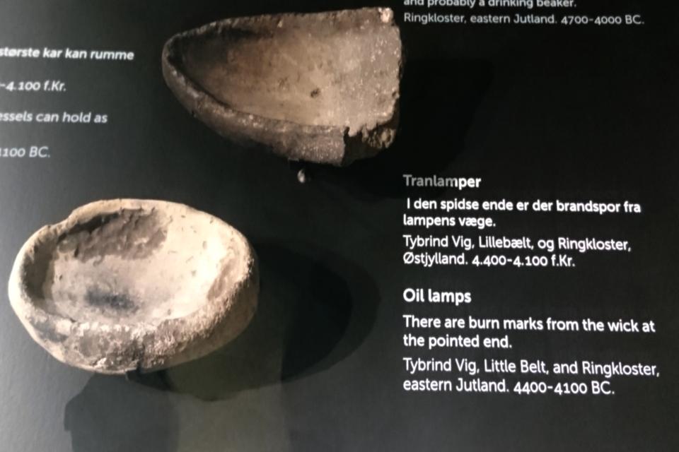 Масляные лампы из глины. культура Эртебёлле