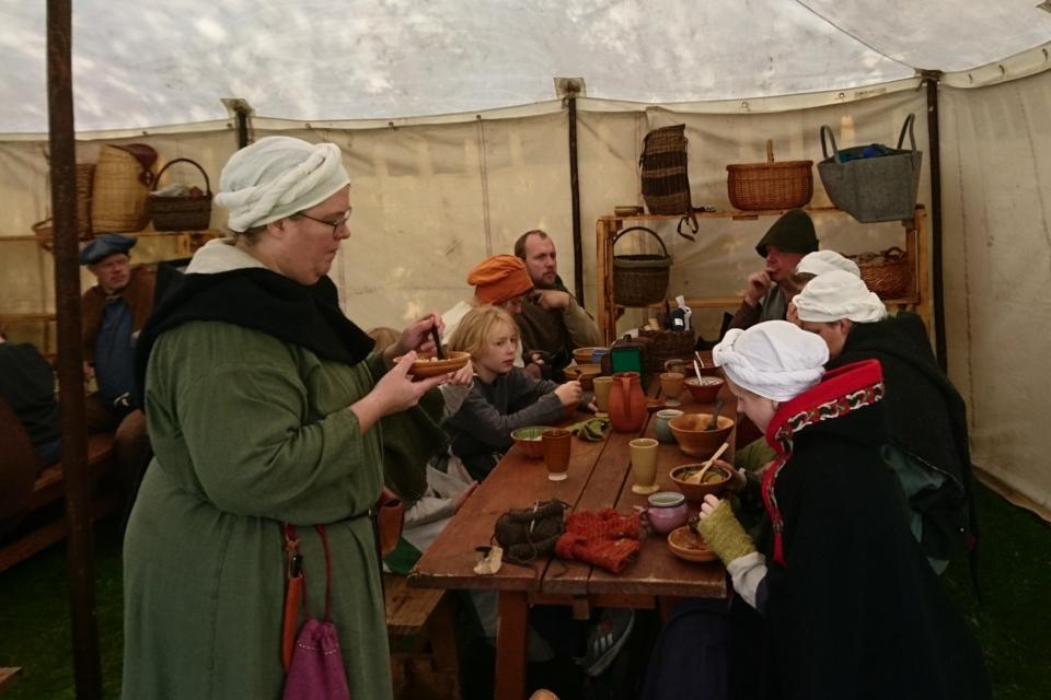 На фестивале раннего Средневековья в монастыре Витскол