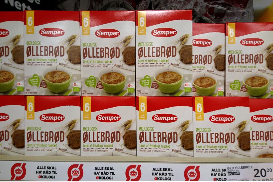 Каша быстрого приготовления оллеброд (øllebrød) для маленьких детей