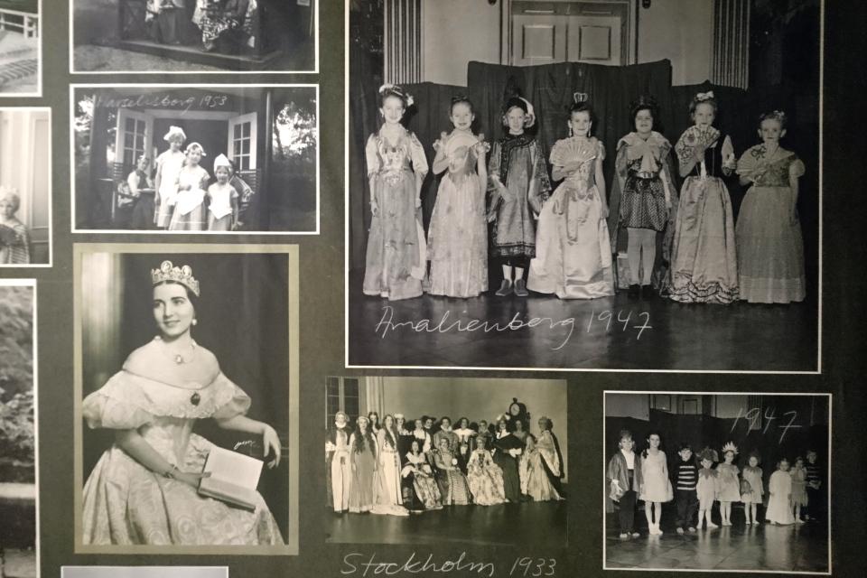 Старые фотографии костюмированных детских праздников, Маргрете II
