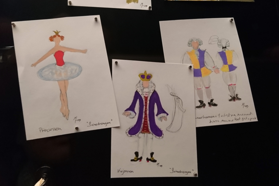 "Эскизы костюмов королевы Маргрете II для балета ""Свинопас"""