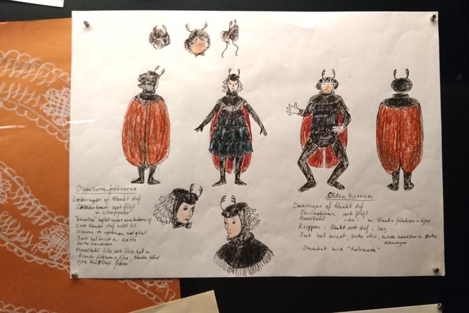 Эскизы декораций и костюмов королевы Дании Маргрете II