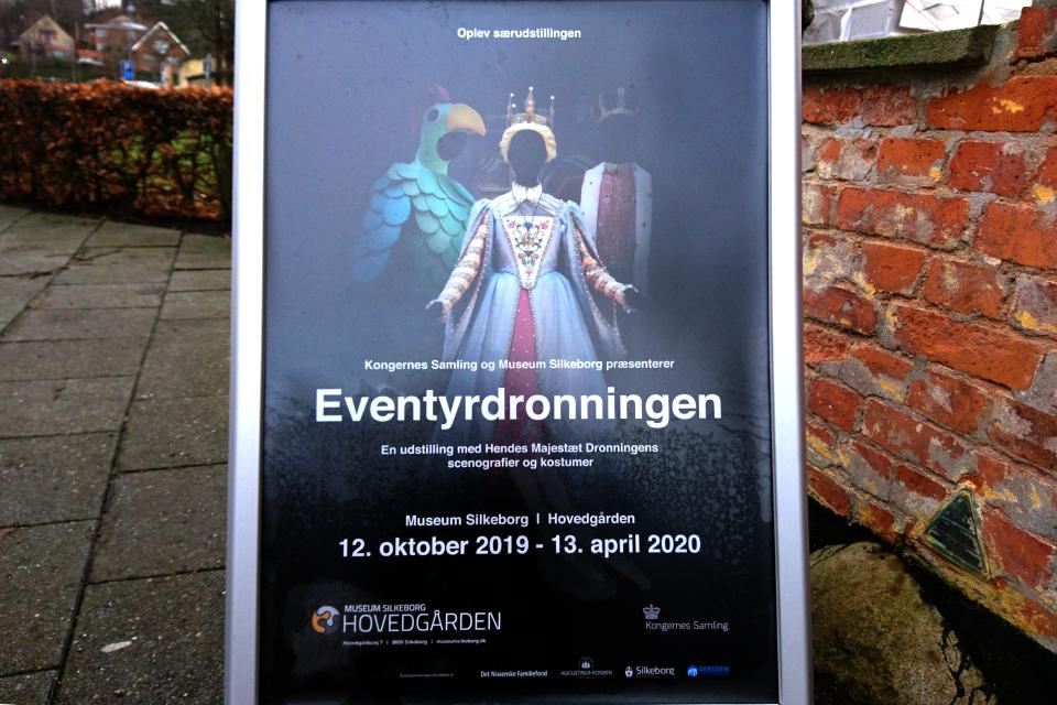 """Плакат выставки """"Сказочная королева"""" (""""Eventyrdronningen)."""