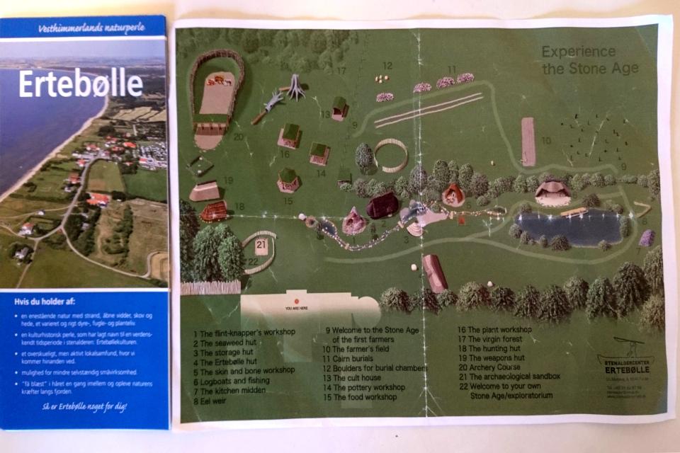 Схема парка каменного века, полученная в музее каменного века Эртебёлле.