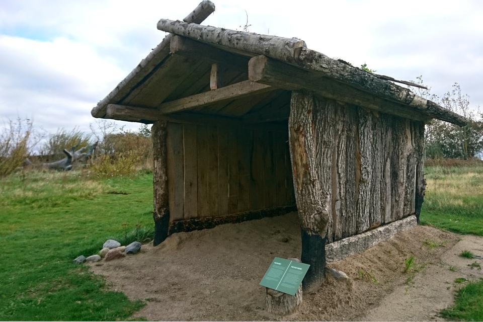 Первобытная деревянная церковь - Культовый дом (дат. Kulthuset) Эртебёлле