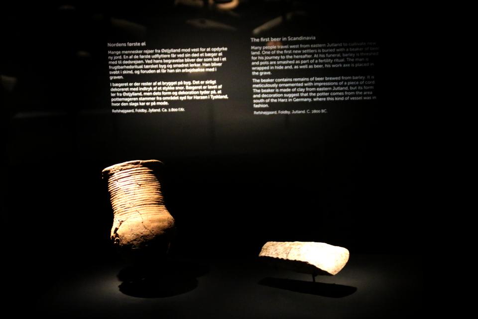 Первое пиво в Скандинавии. Глиняная посуда 2800 до н.э. , Дания