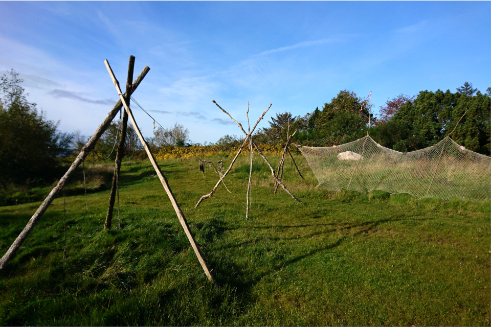 Рыболовные сети в парке каменного века Эртебёлле