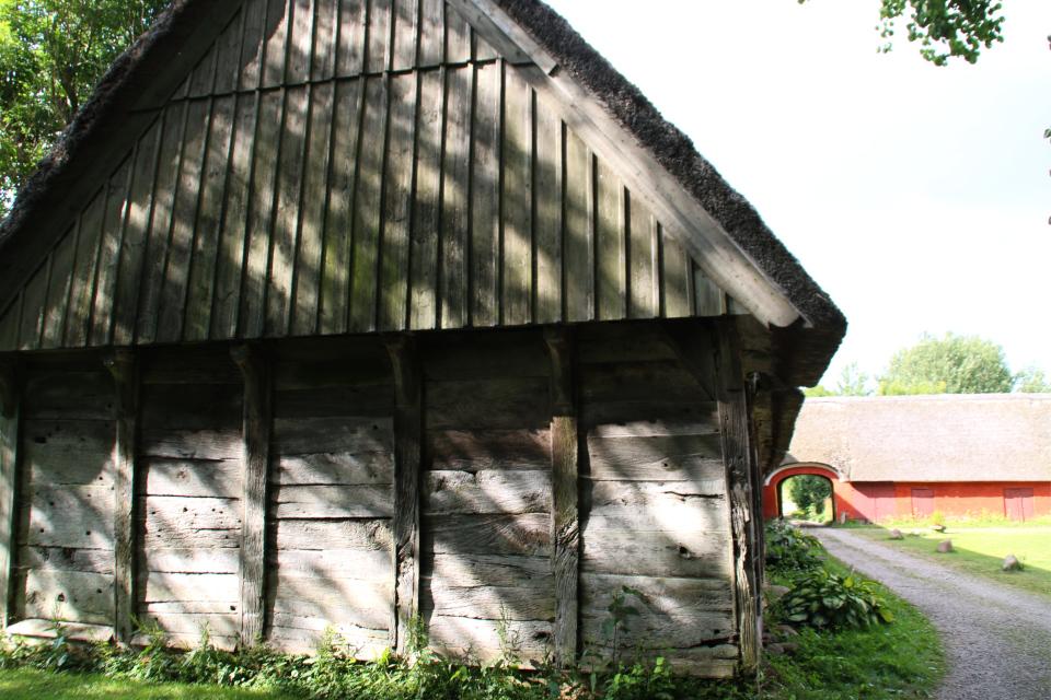 Деревянная постройка булэден