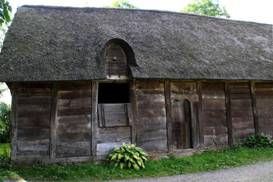 Деревянная постройка булэден с крышей из тростника, Кристиансфельд