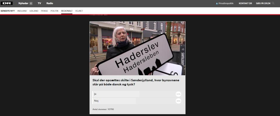 названия городов в Южной Ютландии на датском и немецких языках