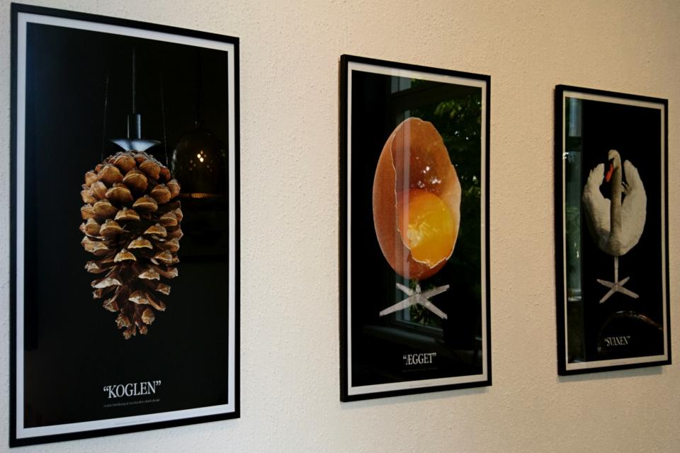 Датский дизайн Арне Якобсен -лебедь, яйцо Поуль. Хеннингсен - артишок