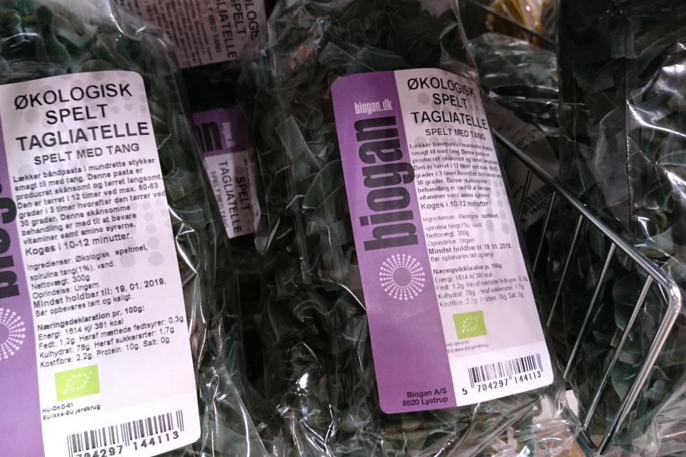 Макаронные изделия из пшеница спельта с водорослями, Дания