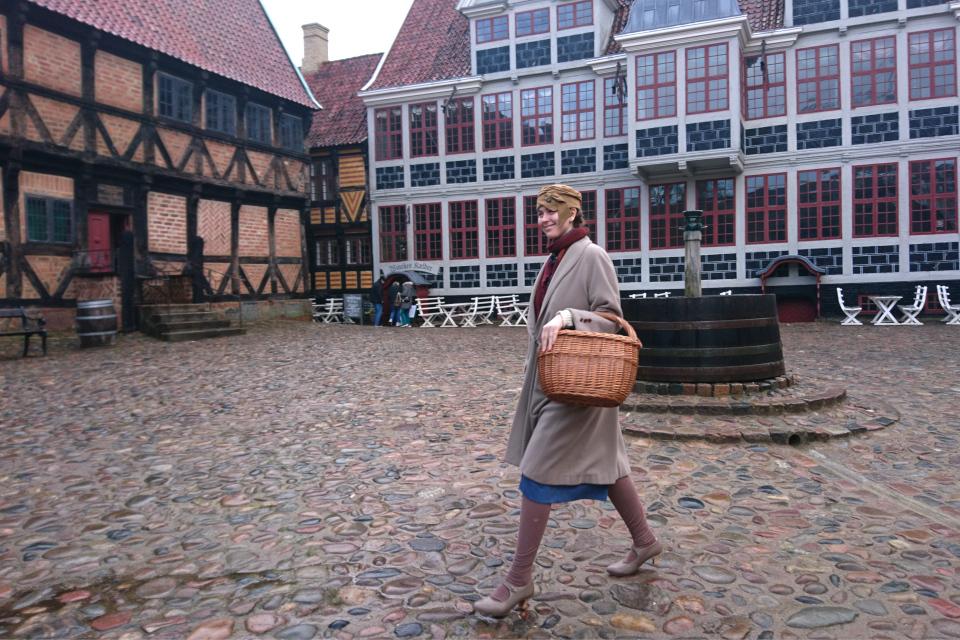 Девушка Южной Ютландии Jyske Pige. 10 фев.2020 Старый Город, Орхус, Дания
