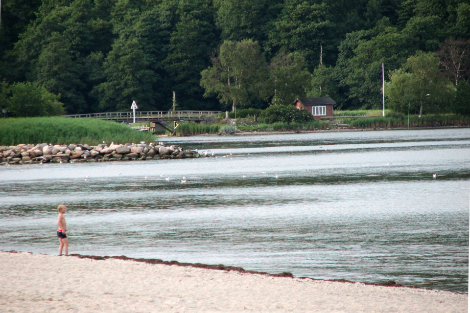 Вид на мостик между Данией и Германией
