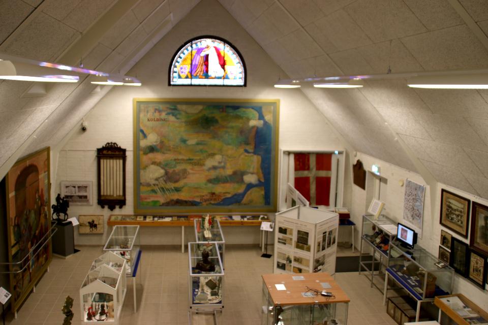 """Зал музея """"воссоединение с Северным Шлезвигом"""" с экспозициями"""