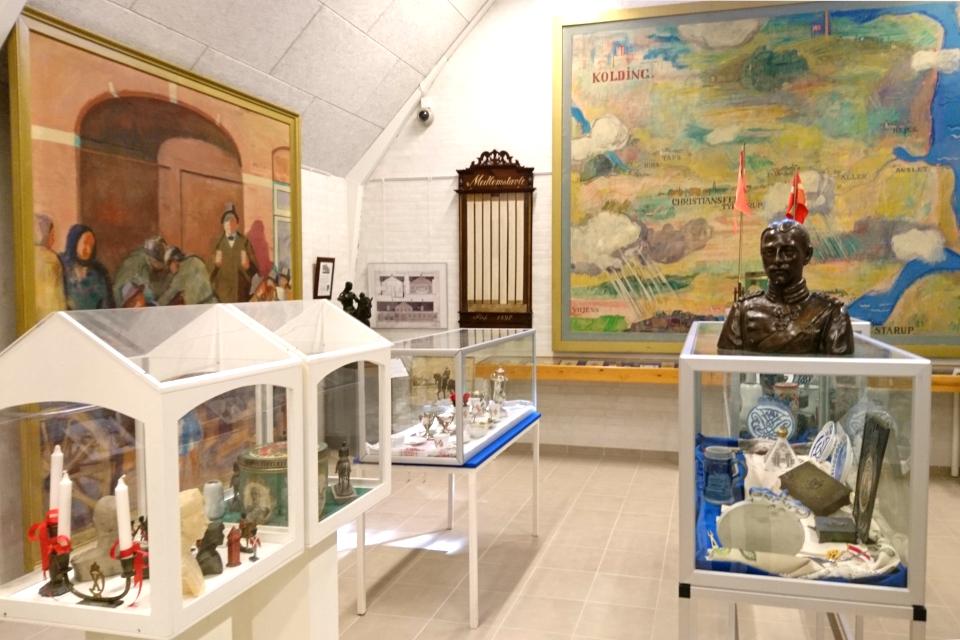 Отдел в музее, посвященный королю Кристиан Х