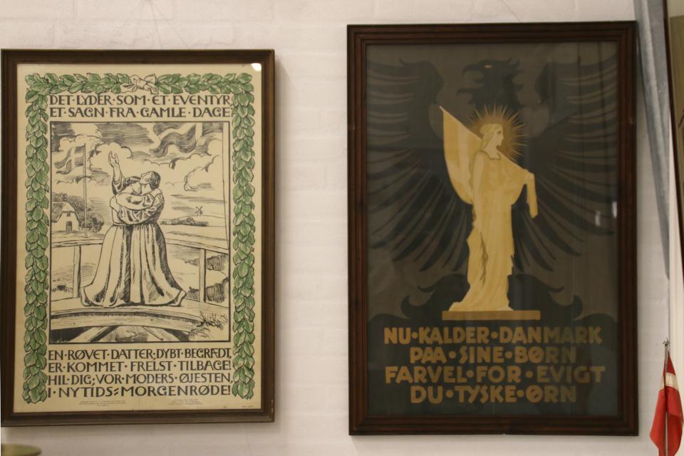 Плакаты, изданные в Дании перед референдумом в 1919 году